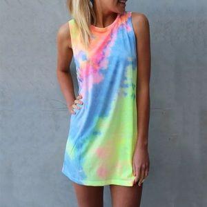Dresses & Skirts - LAST ONE!💕 boho tie dye dress mini tunic